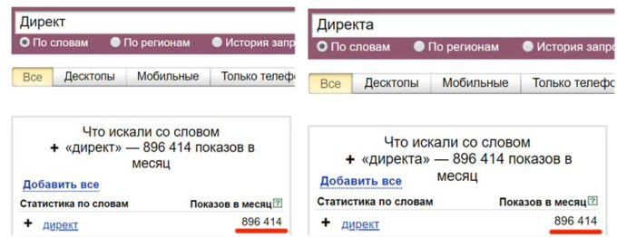 Операторы Яндекс Директ-2