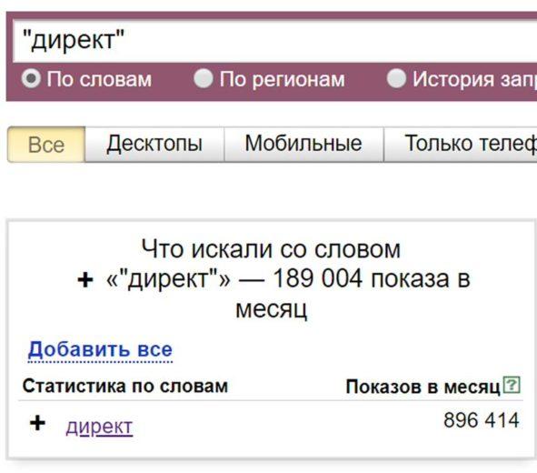 Операторы Яндекс Директ-5