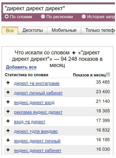 Операторы Яндекс Директ-6